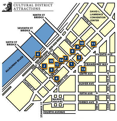 Map of the Cultural District