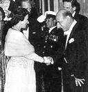 Steinberg greets Queen Elizabeth II