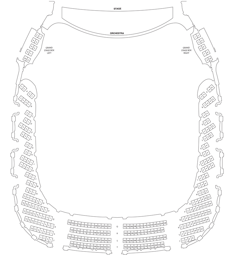 Grand Tier Level Seating Charts