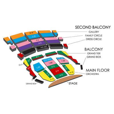 Wang Theatre Seating Chart Car Interior Design